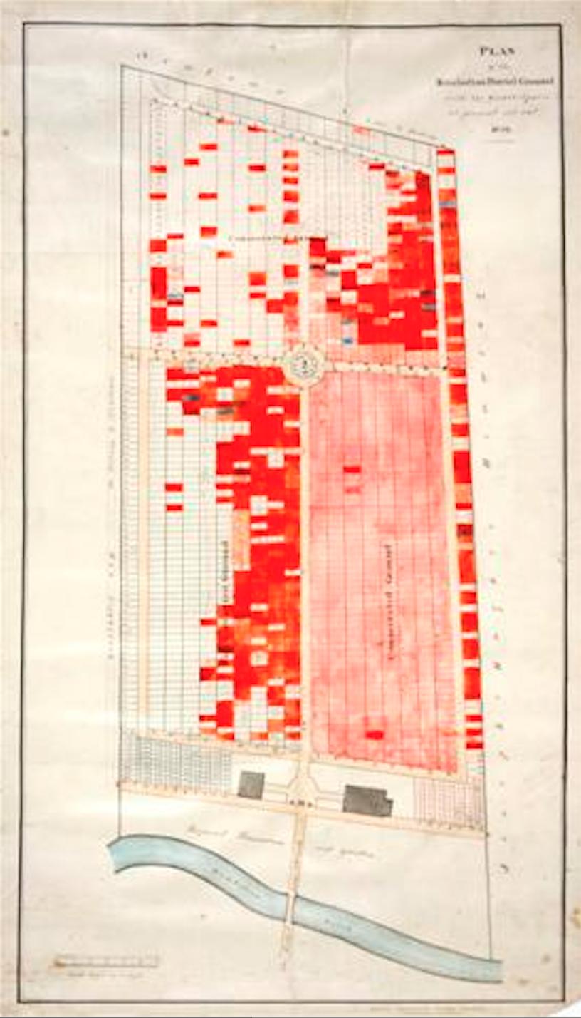 Cemetery Plan 1859